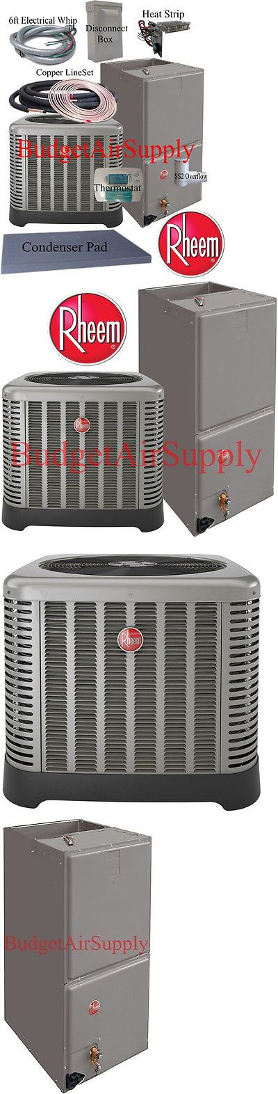 Air Conditioners 69202: Rheem Ruud Classic 3 Ton 14 Seer Heat Pump Rp1436aj+Rh1t3617st+50Ft Install Kit -> BUY IT NOW ONLY: $2165 on eBay!