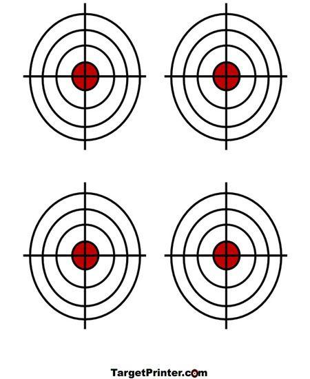 Shooting Range In Pine Colorado: Printable Target 4 Small Crosshair Bullseye Gun Shooting
