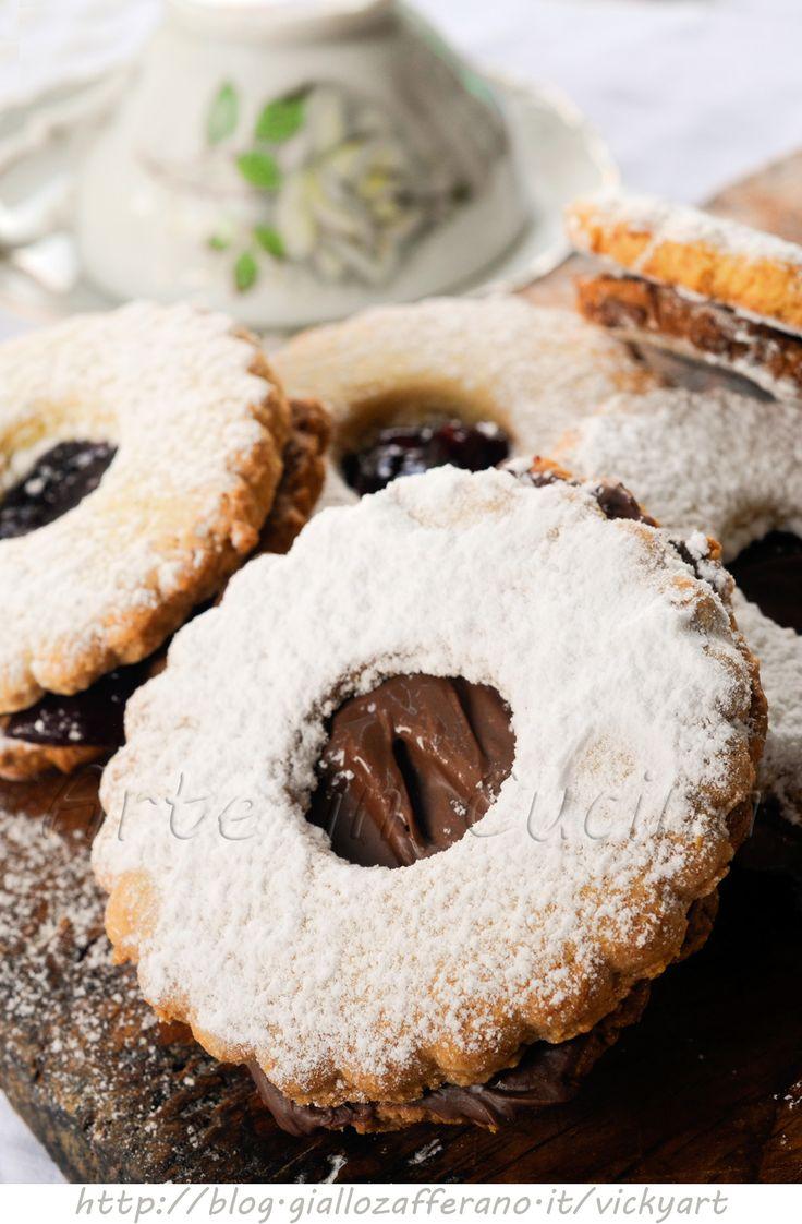 Biscotti occhio di bue ricetta facile vickyart arte in cucina