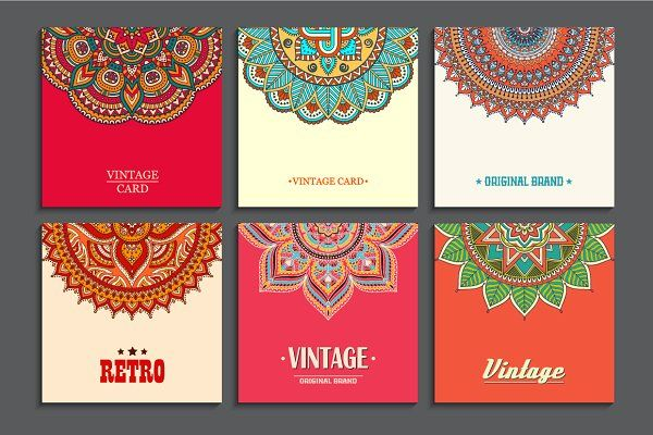 9 Card in ethnic style - Cards