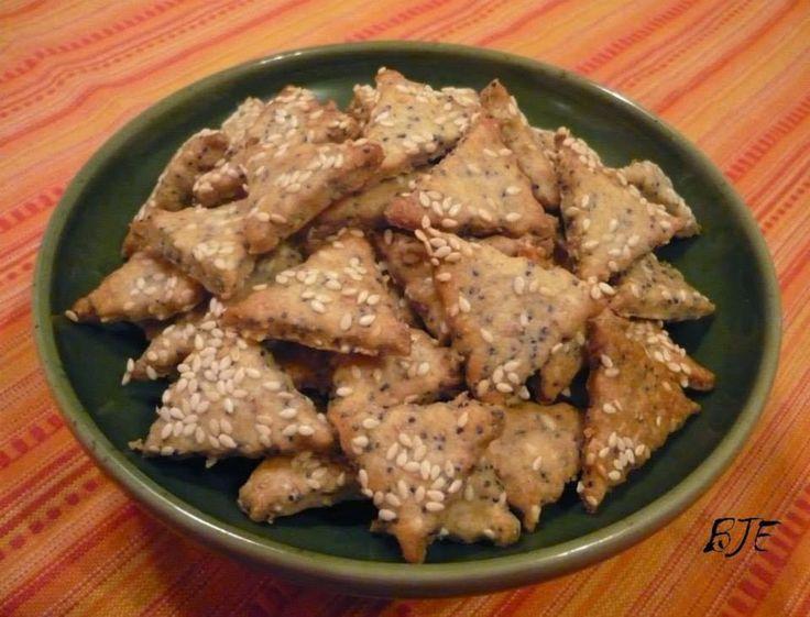 Az áfonya mámora: Lapos keksz, azaz szezámos-mákos kréker