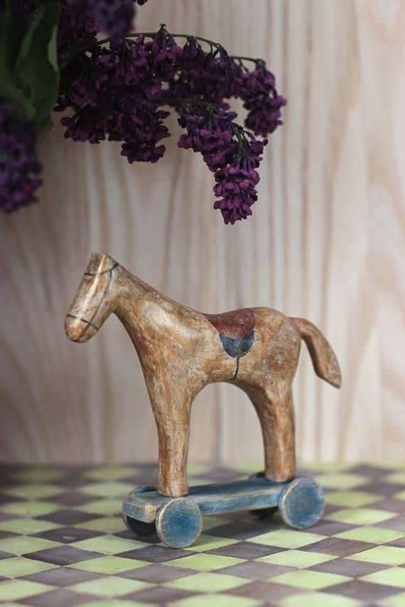 Horse Papier-Mache sculpture toy for Teddy Bear Toy for Doll