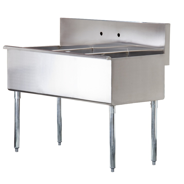 Regency 48 16 Gauge Stainless Steel Three Compartment Commercial Utility Sink 16 X 21 X 14 Bowls Commercial Sink Restaurant Sink Sink