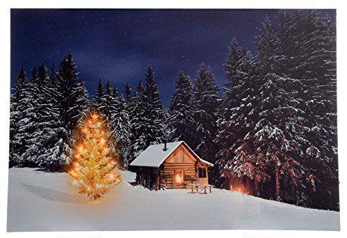 Gro 223 Es Weihnachtsbild Mit Beleuchtung Led Leinwandbild