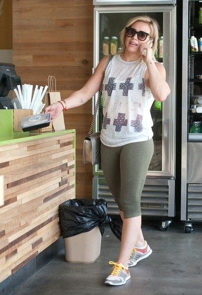 Hilary Duff and Mike Comrie take Luca to the kids gym and treats.NON EXCLUSIVE April 16, 2014.