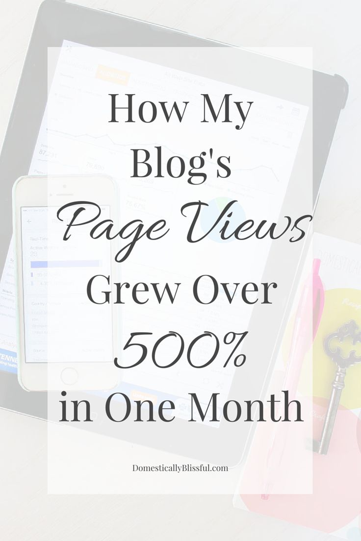 How My Blog's Page Views Grew Over 500 Percent in One Month