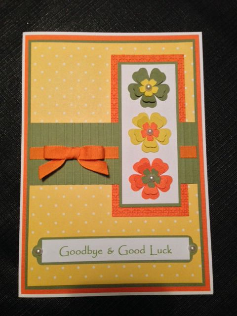 17 best images about good bye good luck card ideas on for Farewell scrapbook template