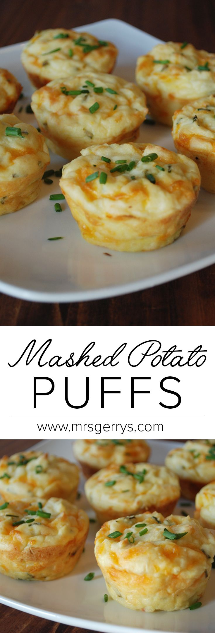 Everyone will love this quick and easy recipe for mashed potato puffs using Mrs. Gerry's Premium Mashed Potatoes.