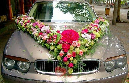 Xe hoa hồng , hoa tú cầu , hoa phăngxe , hoa lồng đèn
