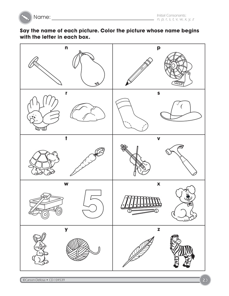 Worksheets Carson-dellosa Worksheets abc word work on pinterest beginning sounds letters and sight words