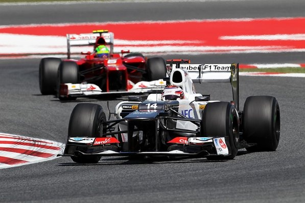Kamui Kobayashi (JPN) Sauber C31.  Formula One World Championship, Rd5, Spanish Grand Prix, Practice, Barcelona, Spain, Friday, 11 May 2012: Kobayashi Jpn, Kamui Kobayashi, 2012, Barcelona Spain