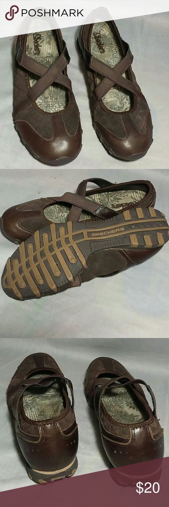Skechers Shoes Brown 10 M Leather Upper Item is in a good condition, NO PETS AND SMOKE FREE HOME. skechers  Shoes