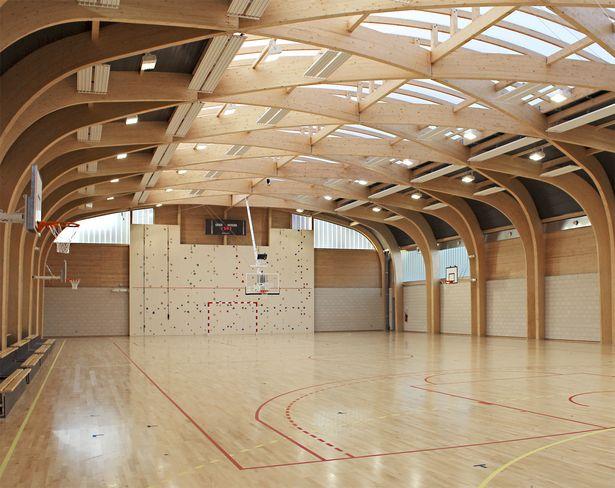 Gymnasium Regis Racine situated in Drancy north east Paris | ATELIER D'ARCHITECTURE ALEXANDRE DREYSSÉ | Archinect