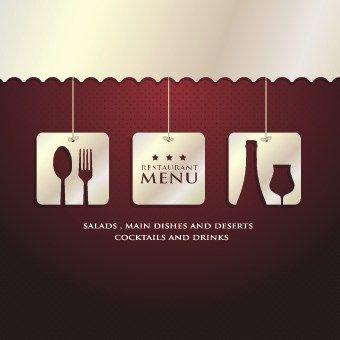 Luxurious restaurant menu vector set 10