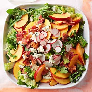 Bacon, Blue Cheese and Nectarine Salad