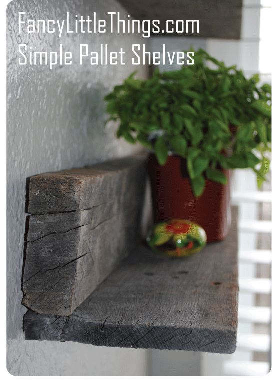 simple pallet shelves- perfect for outside!