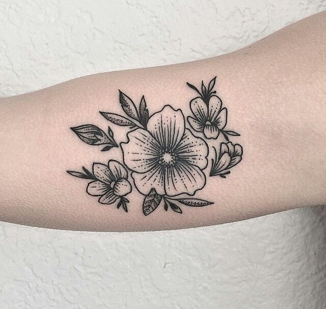 Small Black Flower Tattoos: 48 Best Images About Tattoo On Pinterest