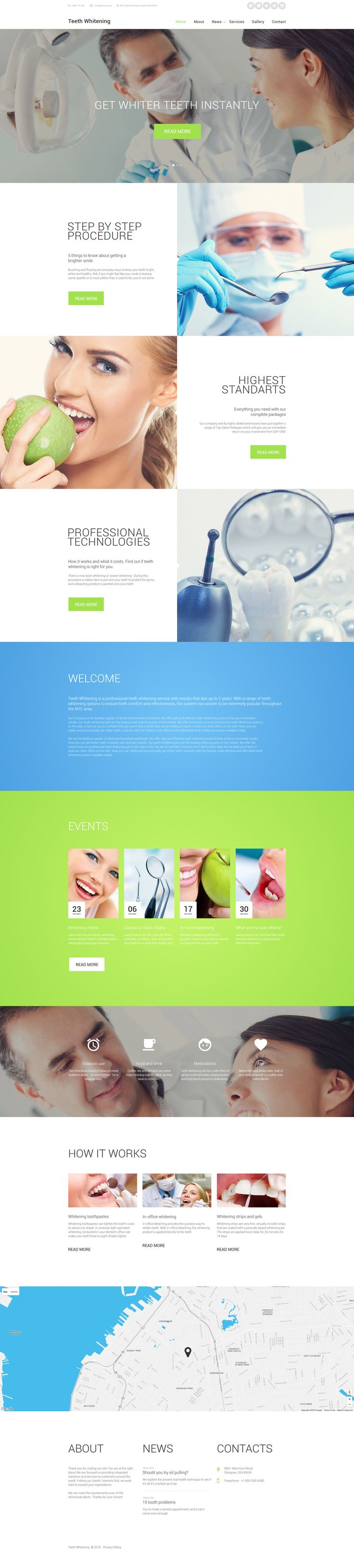 Dentist Website Template  http://www.templatemonster.com/website-templates/58563.html #html #html5