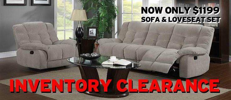 SOFA + LOVESEAT SET #inventory #clearance #sale   http://www.nassaufurnitureonline.com/
