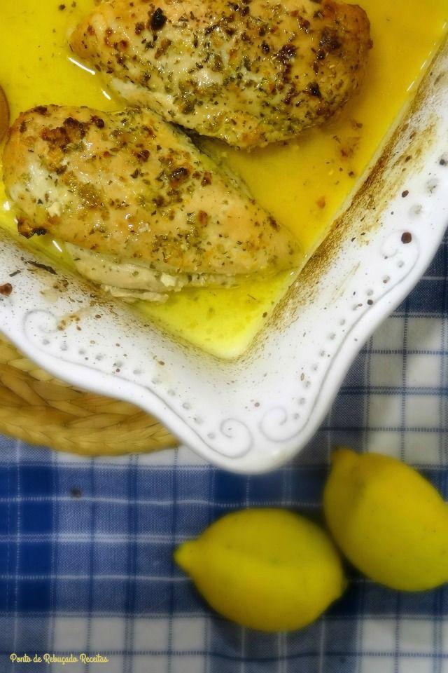 Frango com limão e alho