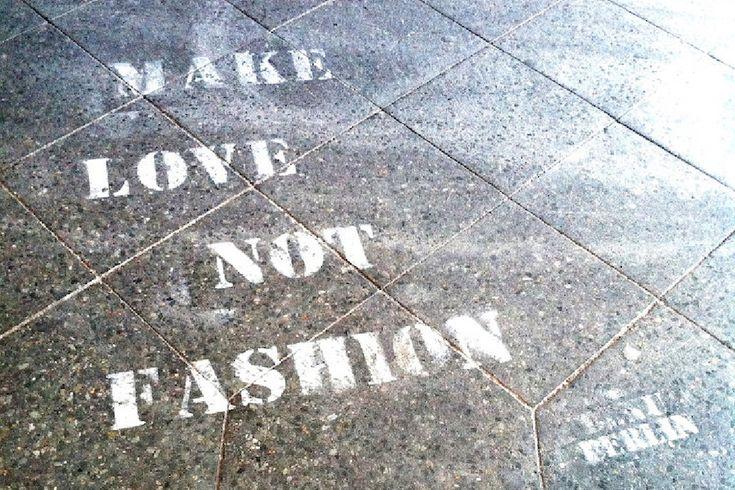 Make love, not fashion copy