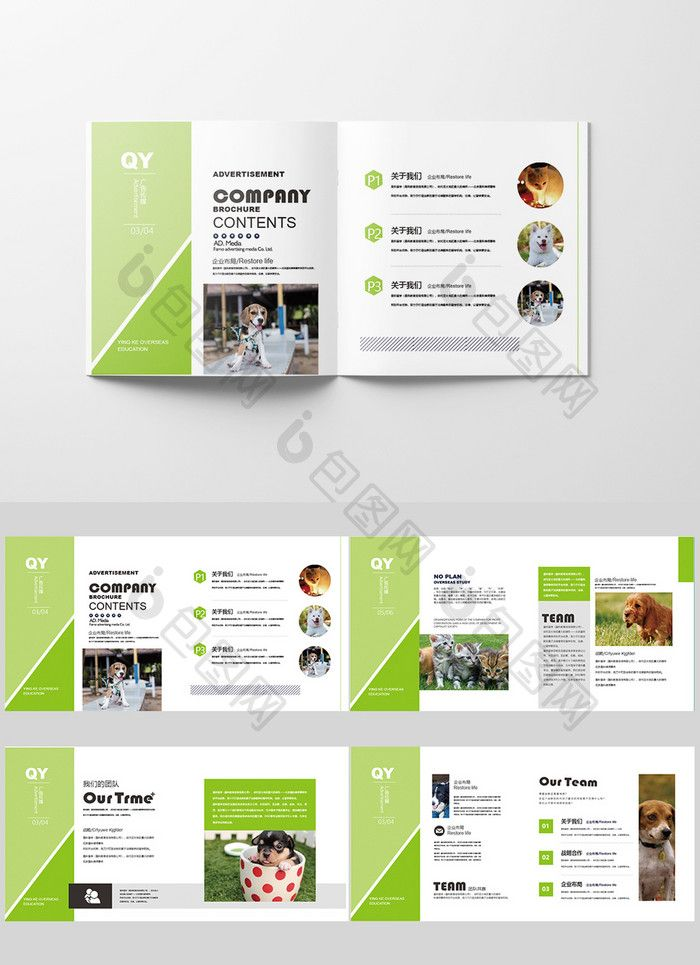 Simple Style Light Green Set Of Pet Shop Brochure Design Layout Ai Free Download Pikbest Brochure Design Brochure Design Template Brochure Design Layout