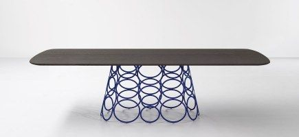 tavolo holahoop rovere grigio antracite / blu
