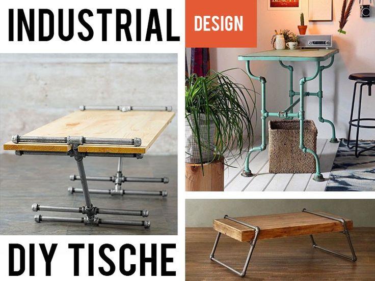 Industrial Look Möbel Best Of: 26 Inspirationen zum nachbauen Hochbetten, Wandregale, Kleiderschränke oder Couchtische: nur aus Rohren und Verbindern.