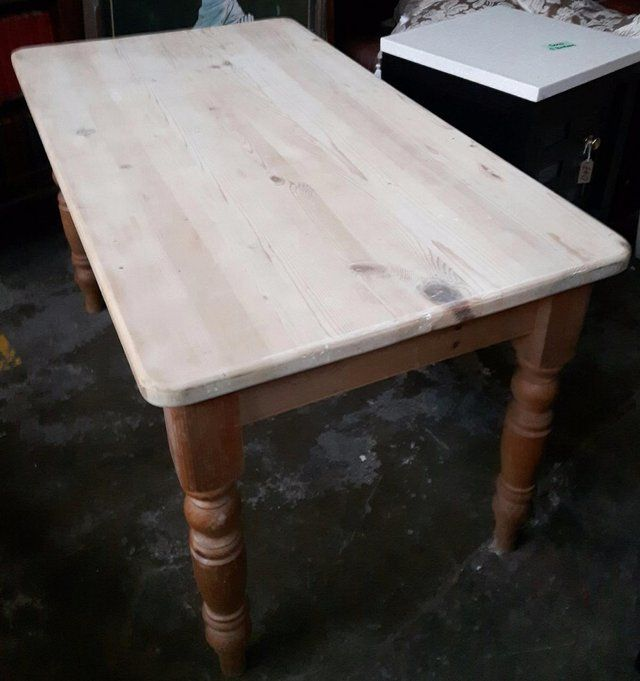 Vintage Solid Pine Farmhouse Table For Sale in Dewsbury, West Yorkshire