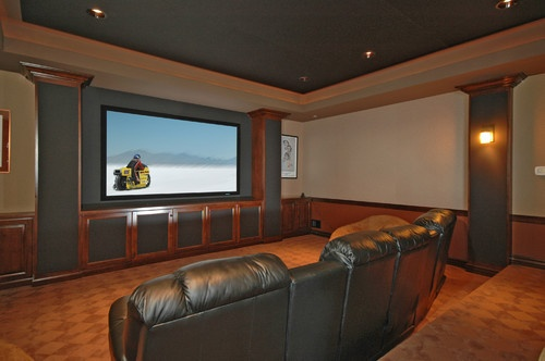 Home theatre room paint color design pictures remodel decor and ideas page 5 home theatre - Best paint color for home theater ...