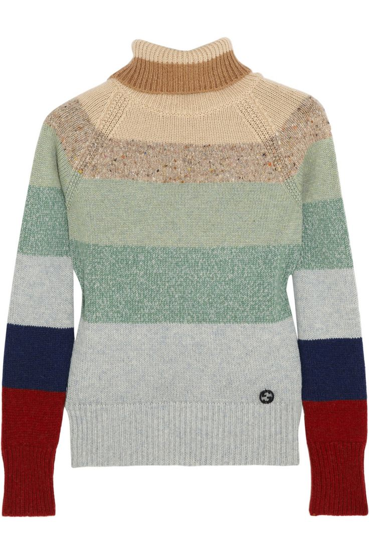 I really want this! Blake Lively wore this in the Age of Adaline. I love her wardrobe in that movie!  Gucci|Striped camel hair, cashmere and wool-blend turtleneck sweater|NET-A-PORTER.COM