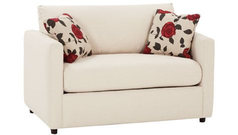 Loveseat sleeper - multiple color swatches to choose from!