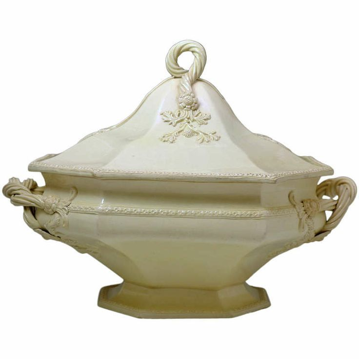 creamware pottery | Antique English Creamware Pottery Melon Tureen 18th Century Probably ...