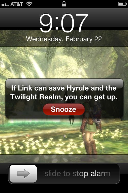 Yeah, and he never slept, as far as I'm aware. Link is the role model for all lazy teenagers.