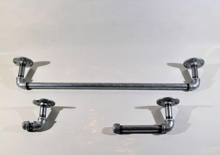 Industrial bathroom fixtures/Industrial Bathroom set/industrial bathroom accessories/industrial pipe bathroom accessories/bathroom hardware by Industrial4Decor on Etsy