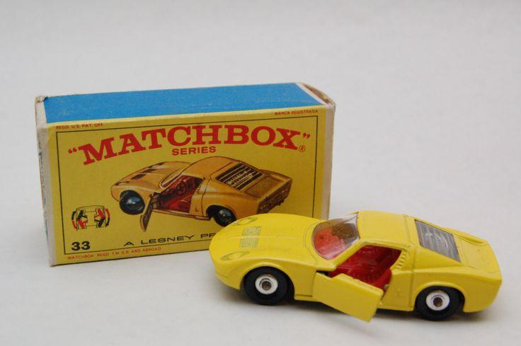 Matchbox Lesney 33 Lamborghini Miura With Original Box