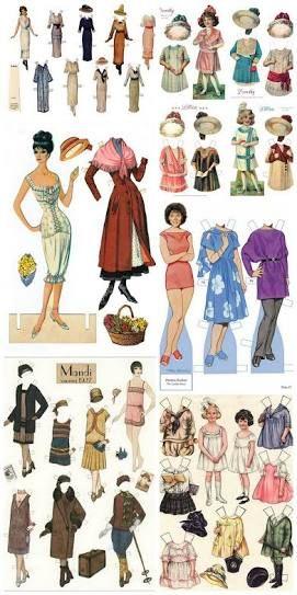 Resultado de imagen para bonecas de papel para imprimir e vestir