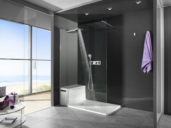 Badezimmer duschkabine ~ Schwarzes badezimmer duschkabine aus glas bathroom
