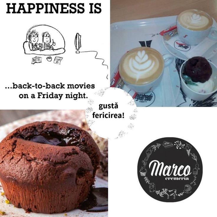 Vineri este ziua ta de filme? Dacă mergi la cinema în Pitesti-Mall, te așteptăm la etajul 1 la o prăjitură și la o cafea, după, să povestim despre film :) #filme #pitestimall #cremeriamarco