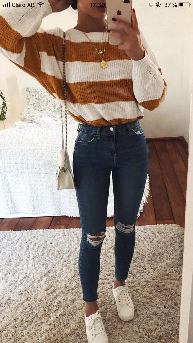 40+ Fascinating and Fashionable School Outfit Ideas For College Girls #schoolout…
