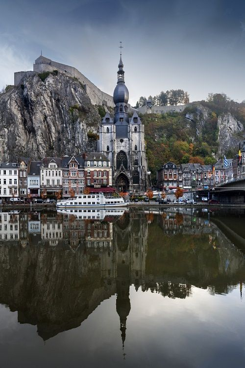 """Dinant,an ancient municipality in the Belgian province of Namur.The name Dinant comes from the Celtic Divo-Nanto, meaning """"Sacred Valley"""" or """"Divine Valley""""; it can also be translated as """"Celestial Gorge"""" or """"Luminous Gorge""""."""