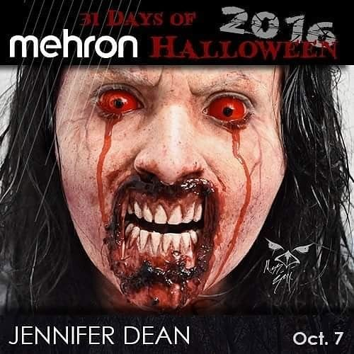 """OCT. 7th - """"31 Days of Mehron Halloween 2016"""" Best of the Best Artist goes to @miss_stryx  from St. Petersburg FL ! Visit our website for full artist Bio Inspiration Products used artist links and more each day! Www.mehron.com  MEHRON products used to create makeup inspired by the great works of Greg Nicotero and Tom Savini. (The Walking Dead Dawn of the Dead) #paradisemakeupaq  #squirtblood #3dgel #procoloring #MehronMakeup #31daysofMehronHalloween #MehronHalloween #HalloweenMakeup…"""
