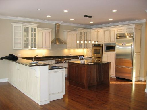 Modern Minimalist Amish Kitchen Cabinets Design Ideas Simle L Shape Kitchen Cabinets With Small