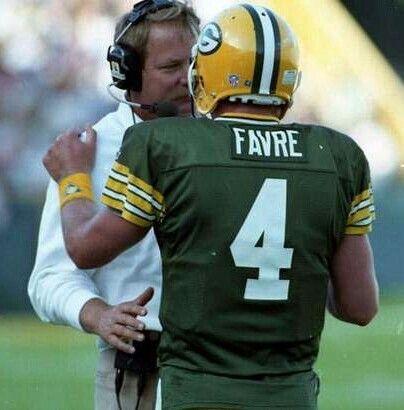 Brett Favre and Coach Mike Holmgren