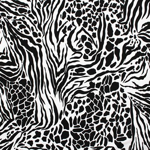 Zebra Print Knitting Pattern : Cheetah zebra animal print cotton spandex knit fabric