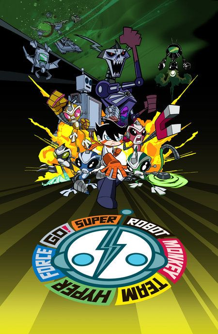 Created by Ciro Nieli.  With Greg Cipes, Kevin Michael Richardson, Tom Kenny, Kari Wahlgren. A teenage boy named Chiro was exploring the outskirts of Shuggazoom City and discovers a giant and abandoned Super Robot. Chiro's life changes when he discovers the Power Primate and becomes a leader of five bionic monkeys to save the city from the Skeleton King!