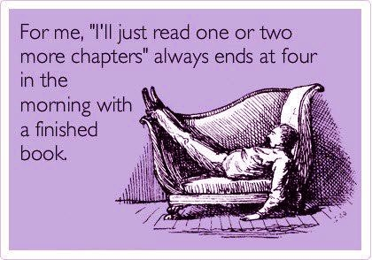 Won't read a book for a year... Then I read 3 in one weekend. I'm a binge reader...