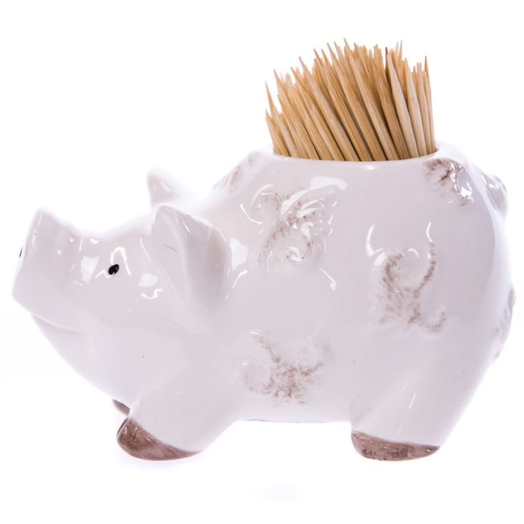 Pig Toothpick Holder | Collections | Rooster  - Cracker Barrel Old Country Store
