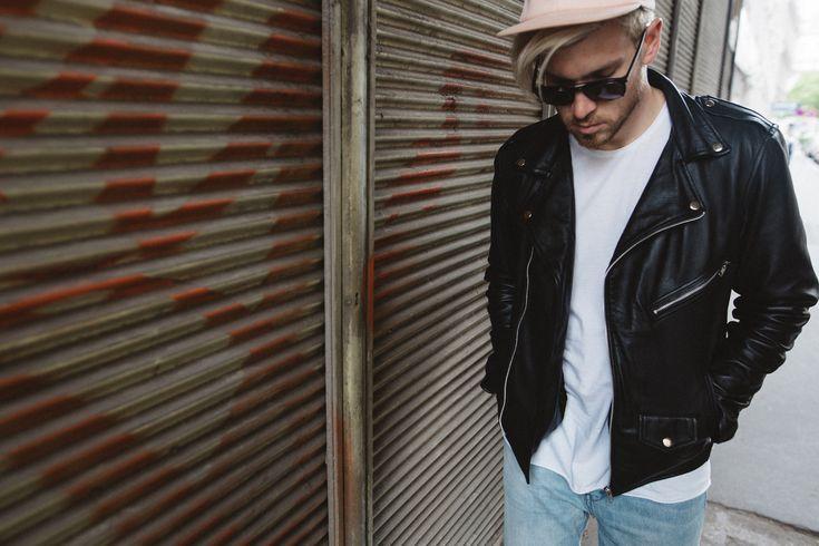 VIPARO Black Marlon Jagger Lambskin Leather Biker Jacket by @meanwhileinawesometown