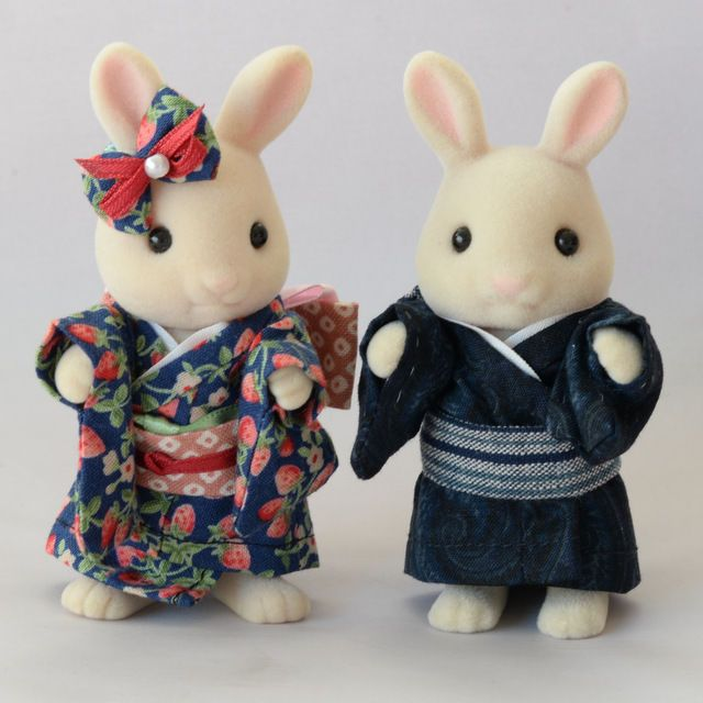 Calico Critters Sylvanian Families Hand Made Kimono with Figures #SylvanianFamilies